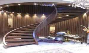 پله گرد چوبی
